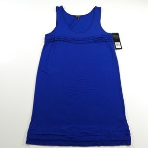 NWT Daisy Fuentes Blue Knit Dress with Ruffles